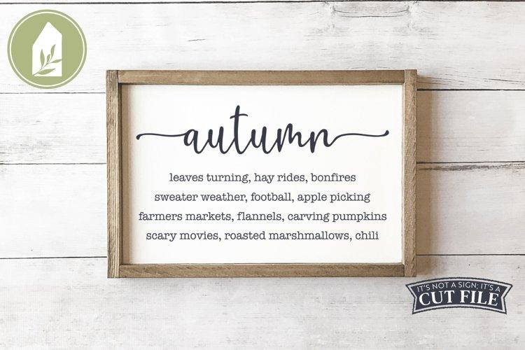 Autumn List Sign, Farmhouse SVG, Fall SVG example image 1