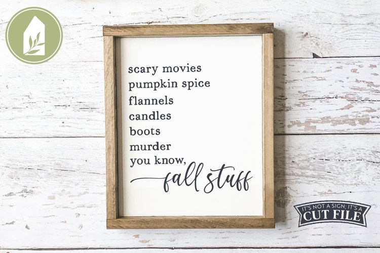 Fall Stuff SVG, Fall Sign SVG example image 1