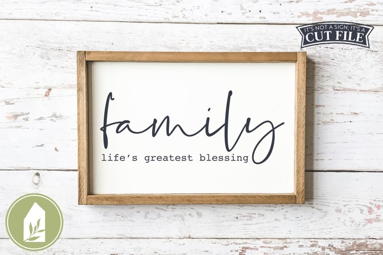 Family Life's Greatest Blessing SVG, Wood Sign SVG example image 1