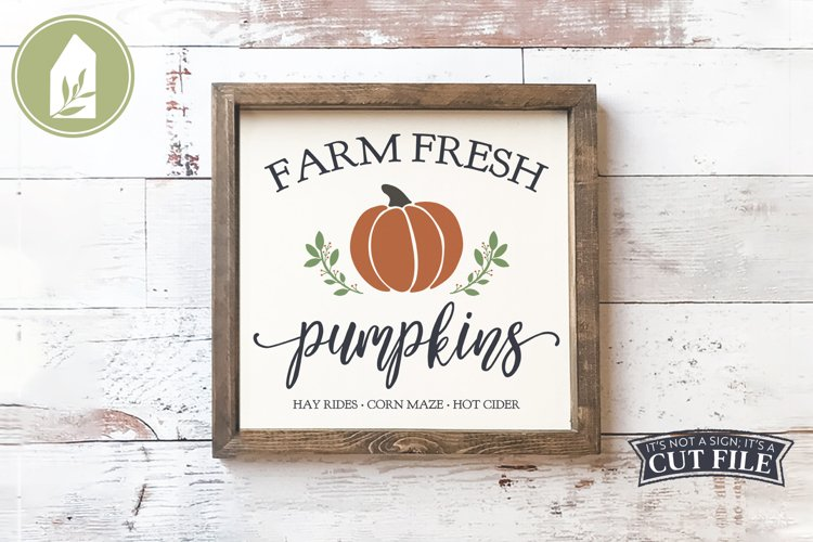 Farm Fresh Pumpkins, Fall Sign SVG, Autumn SVG example image 1