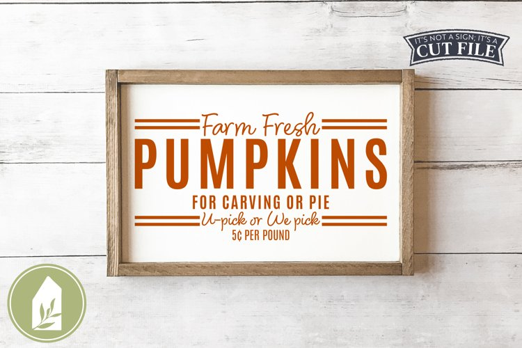 Farm Fresh Pumpkins SVG, Fall SVG, SVGs for Signs example image 1