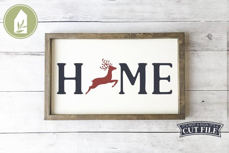 Reindeer Home SVG, Christmas Sign SVG, Reindeer SVG example image 1