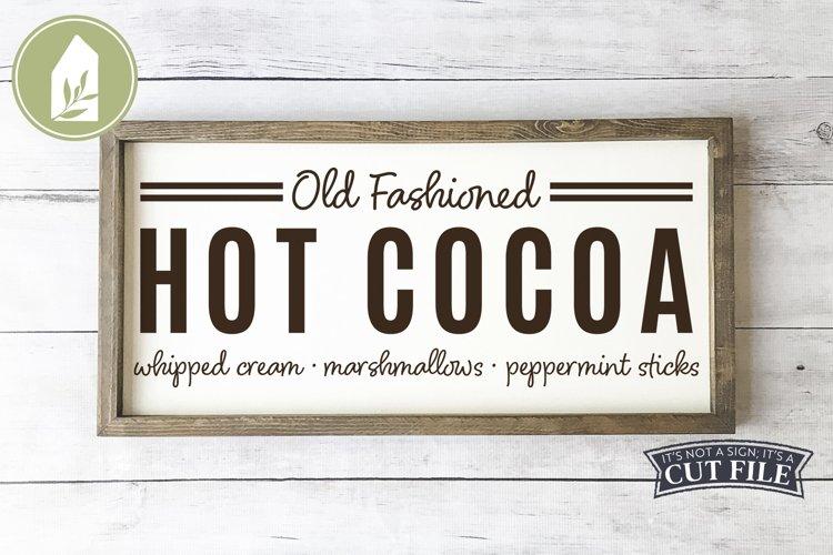 Hot Cocoa SVG, Fall SVG, Christmas SVG, Grain Sack example image 1