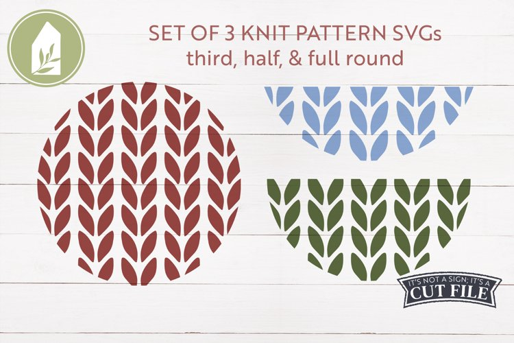 Sweater Pattern SVG, Round Sign SVG, Winter, Christmas SVG example image 1