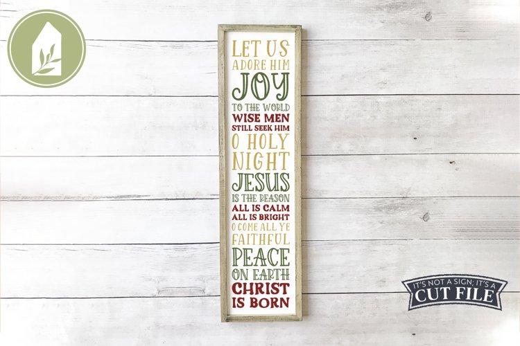Christmas Porch Sign, Christian SVG, Christmas SVG example image 1