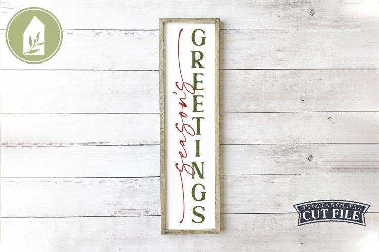 Season's Greetings, Holiday Porch Sign, Christmas SVG example image 1