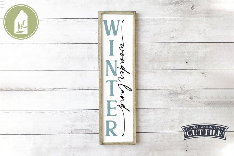 Winter Wonderland, Vertical Winter Sign, Christmas SVG example image 1
