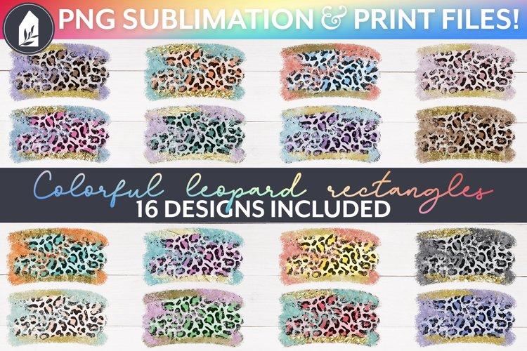 Leopard Sublimation Bundle, 16 Sublimation Backgrounds, PNG