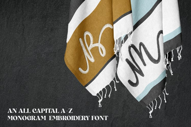 Linking Monogram - Embroidery Font example image 1