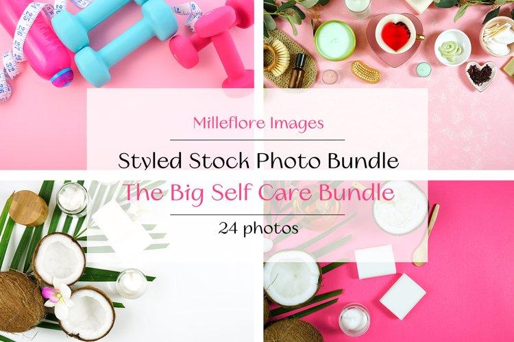 Self Care & Wellness Photo Bundle. Styled Stock JPEG Photos