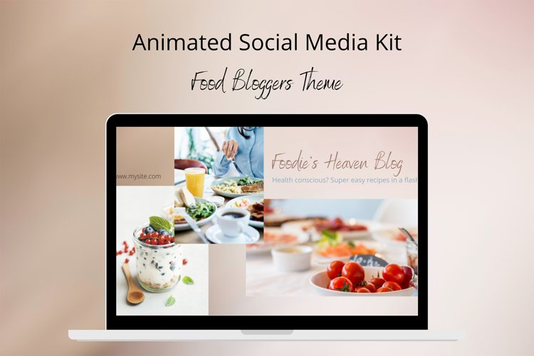 Animated Social Media Kit Canva Templates for Bloggers