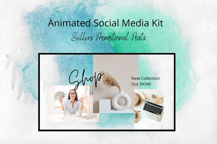 Animated Social Media Kit Canva Templates for Sellers