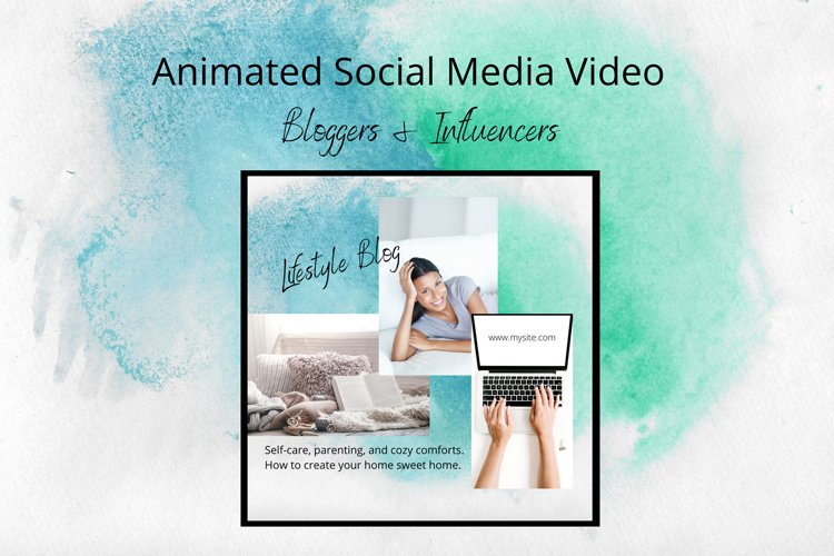 Animated Instagram Bloggers Social Media Canva Template