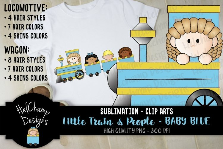 Little Trains collection - Baby Blue- LT012