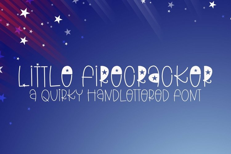 Web Font Little Firecracker - A Quirky Handlettered Font example image 1