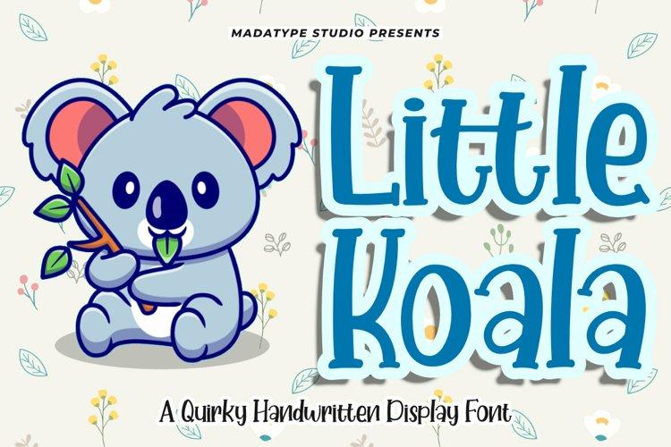 Little Koala | A Cute Handwritten Quirky Font