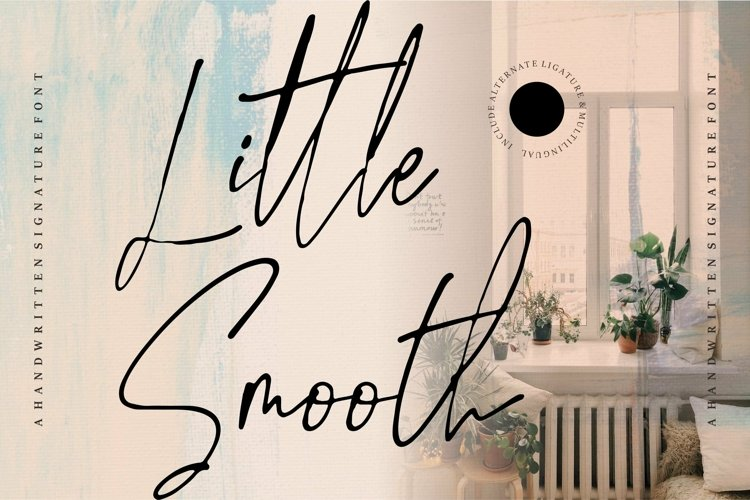Web Font Little Smooth - A Handwritten Signature Font example image 1