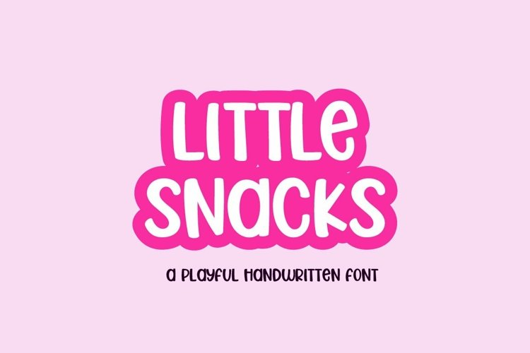 Web Font Little Snacks - a fun craft font example image 1