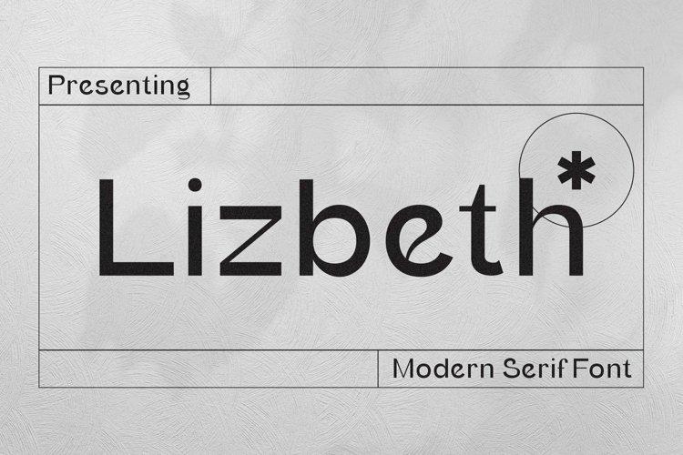 Web Font Lizbeth example image 1