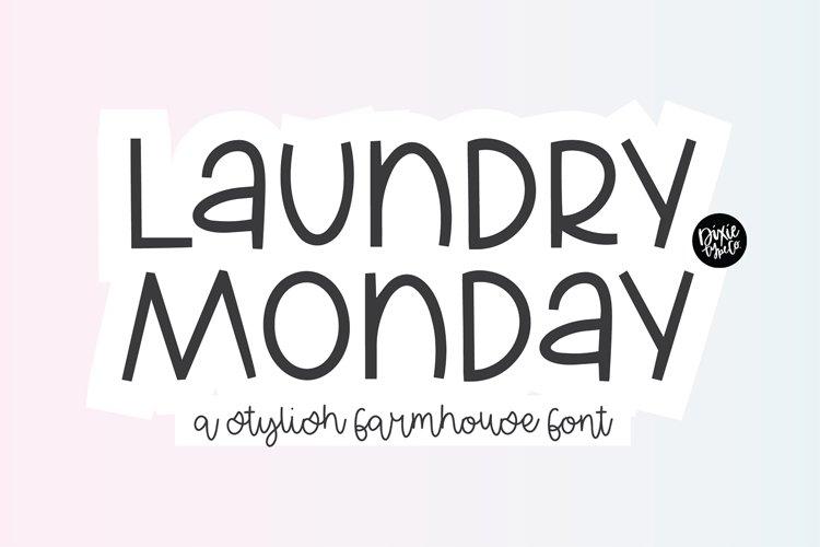 LAUNDRY MONDAY Stylish Farmhouse Font example image 1