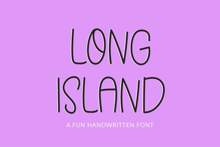 Web Font Long Island - a quirky handwritten font example image 1