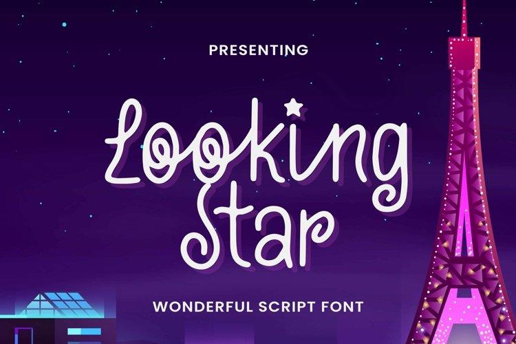 Web Font Looking Stars - Script Font example image 1