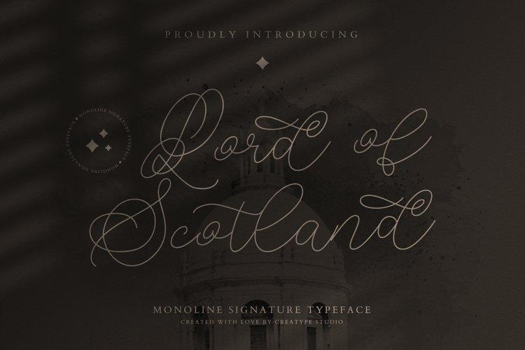 Lord of Scotland Monoline Signature example image 1