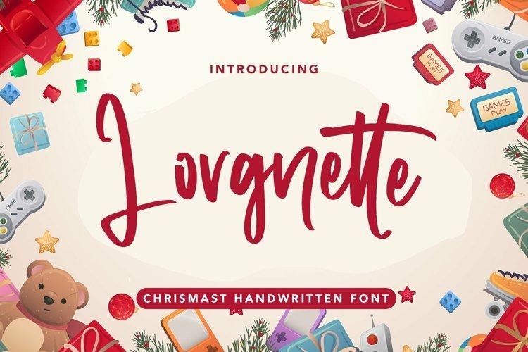 Web Font Lorgnette - Christmas Handwritten Font example image 1