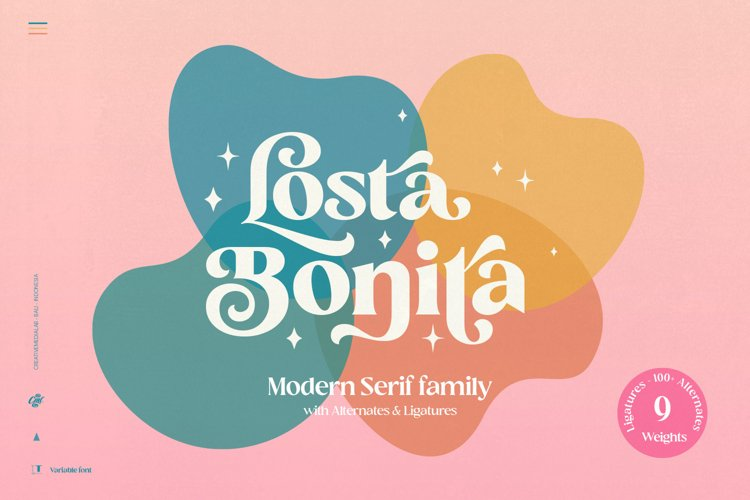 Losta Bonita - Modern Serif Family example image 1