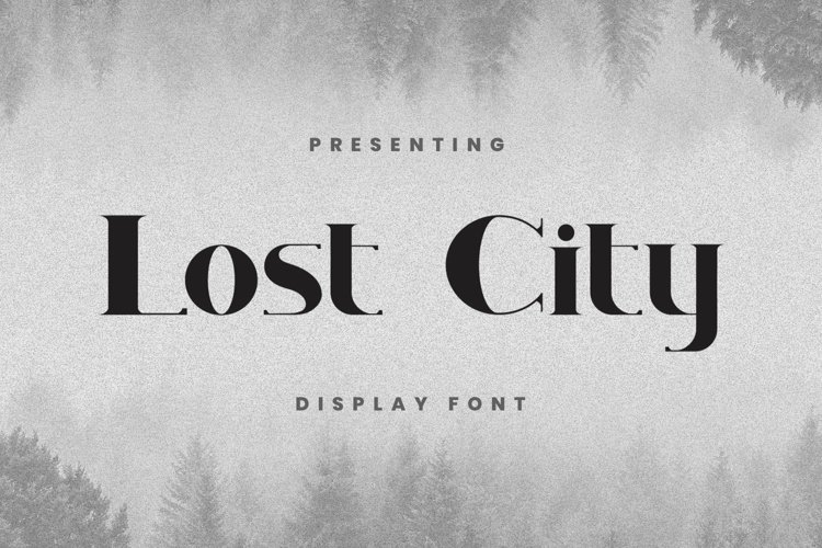 Web Font Lostcity - Display Font example image 1
