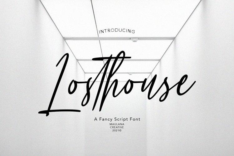 Losthouse Fancy Script Font example image 1