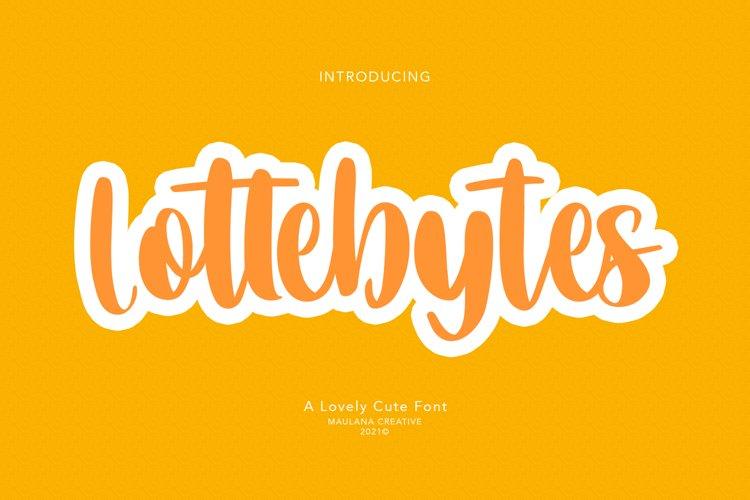 Lottebytes Lovely Cute Font example image 1
