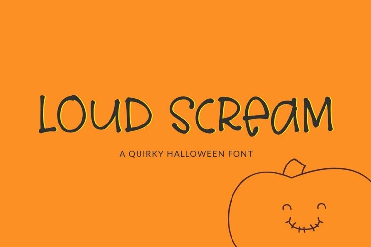 Web Font Loud Scream - a quirky halloween font example image 1