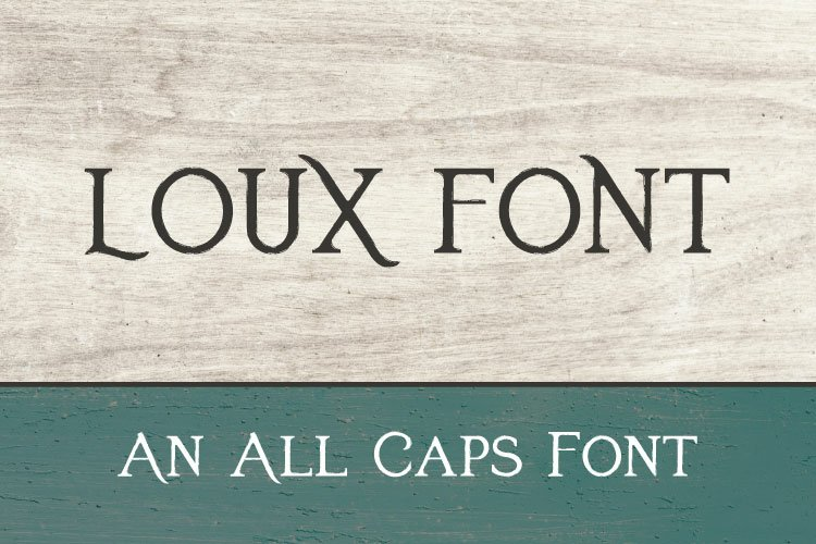 Loux font example image 1