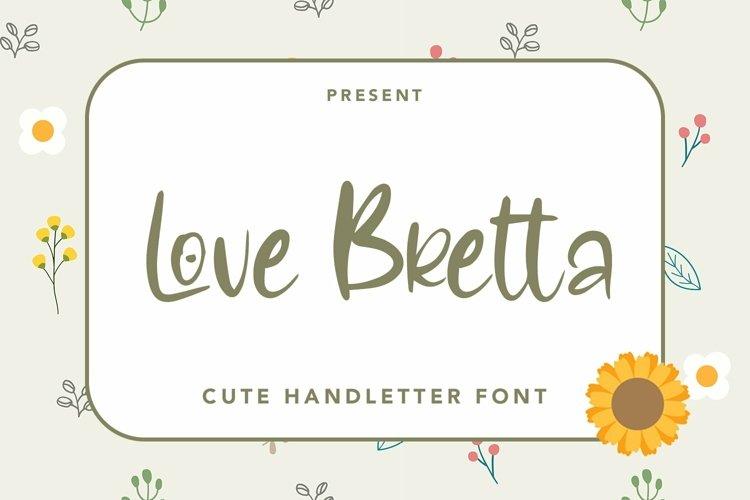 Web Font Love Bretta - Cute Love Handletter Font example image 1