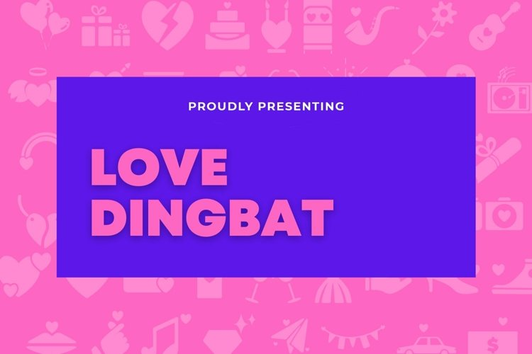 Web Font Love - Dingbat Font example image 1