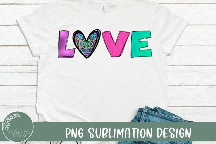 Colorful Love Heart Leopard Sublimation- Leopard Sublimation