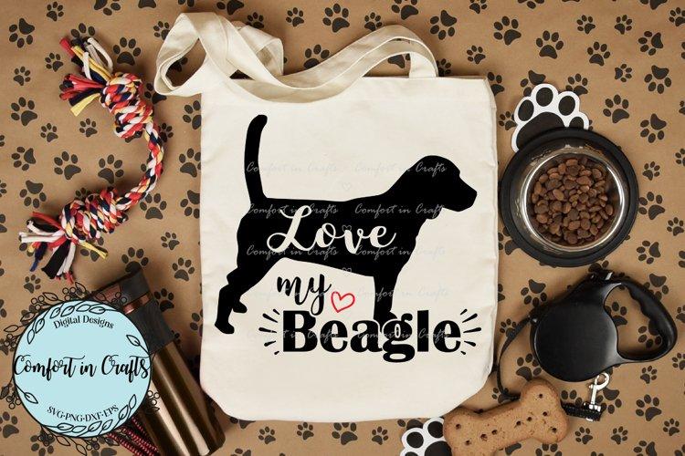 Love My Beagle SVG example image 1