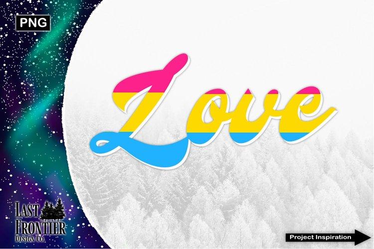 Love Pansexual Sublimation Design