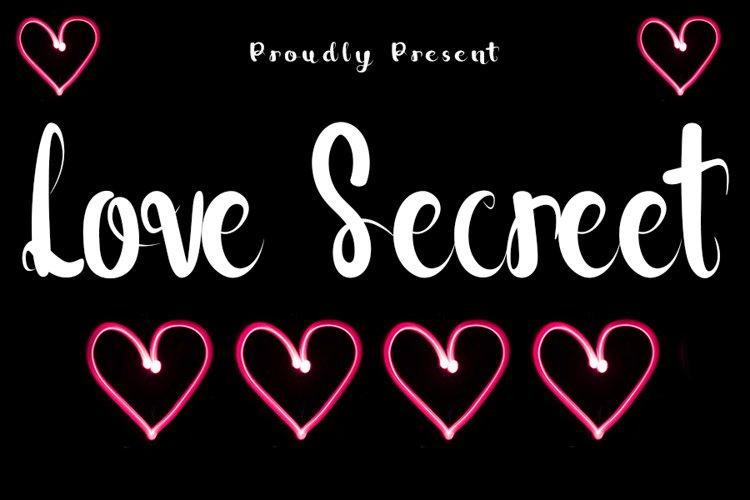 Love Secreet - Love Handwritten Font example image 1