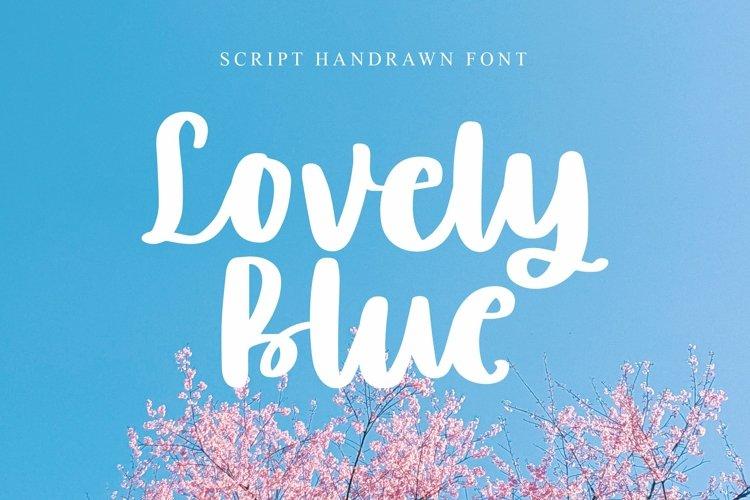 Web Font Lovely Blue - Script Handrawn Font example image 1