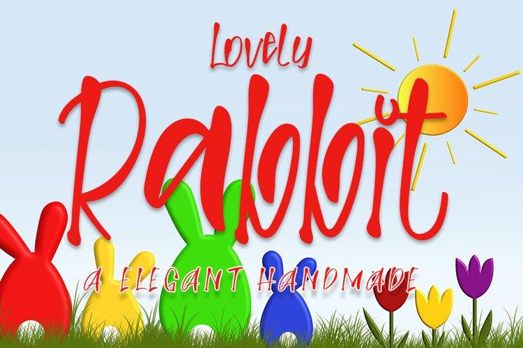 Lovely Rabbit - Lovely Handwritten Font example image 1