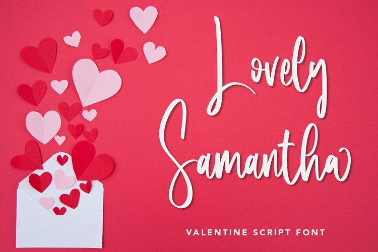Web Font Lovely Samantha - Valentine Script Font example image 1