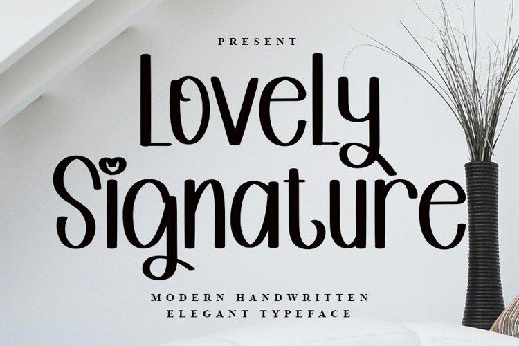 Lovely Signature - Modern Handwritten Font example image 1
