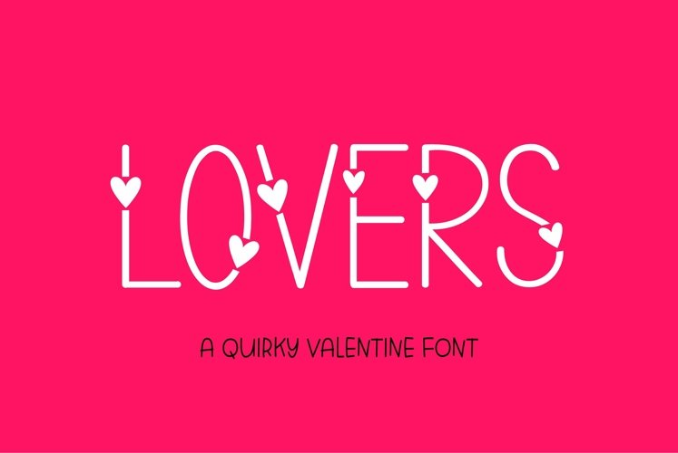 Web Font Lovers - a valentines day font example image 1
