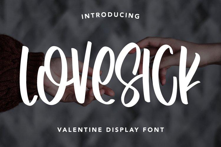 Lovesick - Valentine Display Font example image 1