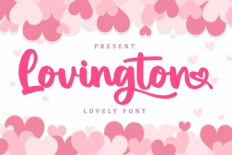 Web Font Lovingtown - Lovely Handwriting Font example image 1