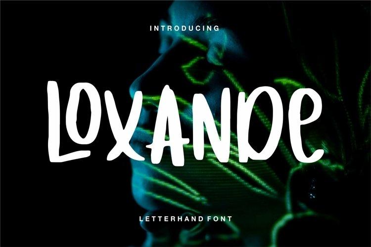 Web Font Loxande - Letterhand Font example image 1