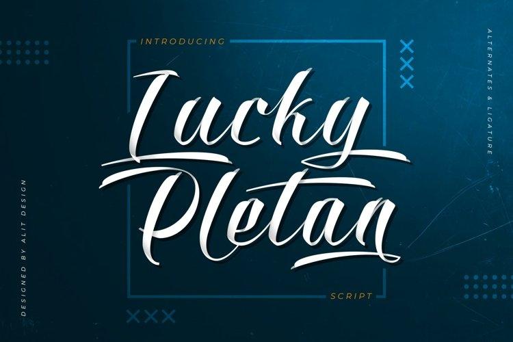 Lucky Pletan Typeface example image 1