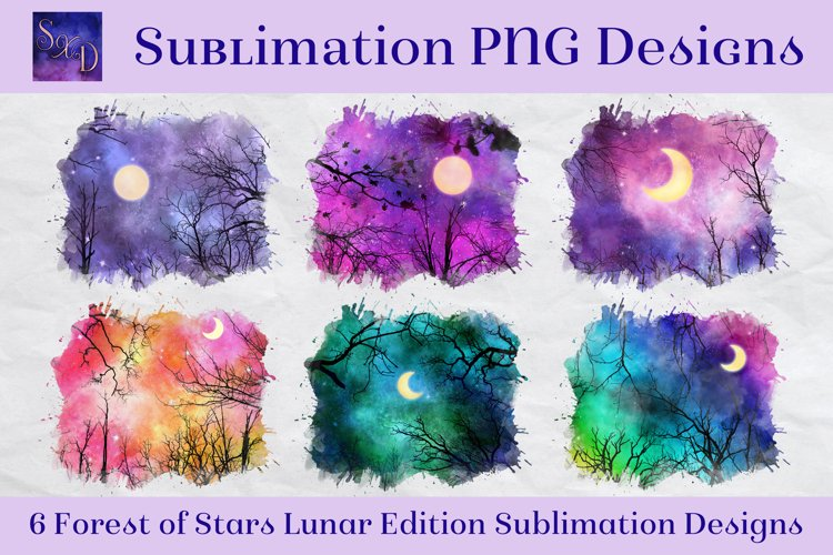 Sublimation PNG Designs - Forest of Stars Lunar Edition example image 1